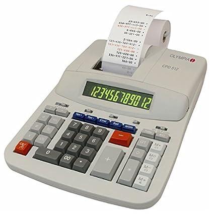 Olympia CPD 512 - Calculadora con impresora (12 dígitos ...
