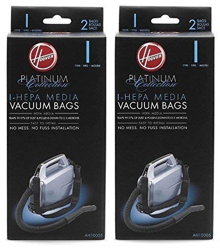 Hoover Type I HEPA Bag (4-Pack), AH10005