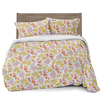 Gray Polka Dot Duvet Cover Full/Queen Size Bedding, Soft and Wrinkle Free, White and Grey