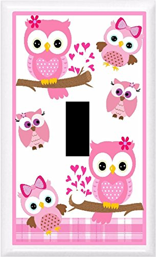Got You Covered BB Adorable Owls Nursery & Children Decor Light Switch Cover Plate OR Outlet (1x Toggle (Single)) ()