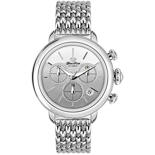 GLAM ROCK BAL HARBOUR GR77116N Swiss Quartz Movement Stainless Steel Ladies Chronograph Watch