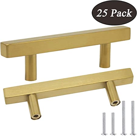 Hole Centers Square T Bar Kitchen Cabinet Handles Drawer Pulls For Kitchen Furniture Hardware 96mm Probrico Cabinet Handles Pack Of 50 Satin Nickel 3 3 4inch Tools Home Improvement Cabinet Hardware