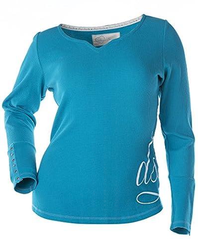 Divas SnowGear Women's Long Sleeve Thermal Shirt (Ocean Blue, 4X-Large) - Divas Womens Shirts