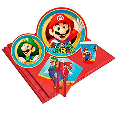 Super Mario Party Supplies - Party Pack for 16