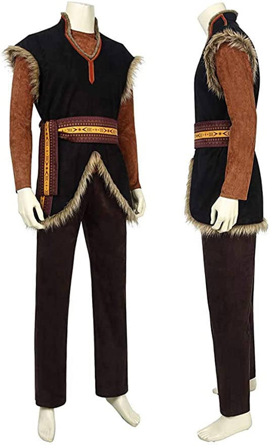 New Adult kristoff Costume Mens Kristoff Cosplay Boots Customized Handcrafted
