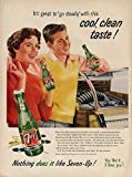 7up 10 soda - Go steady with this cool clean taste 7-Up Soda ad 1956 jukebox teens