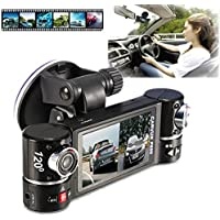 ABCsell Dual Lens Car Camera Vehicle DVR Dash Cam Two Lens Video Recorder F600