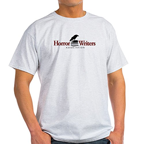 CafePress Horror Writers Association Light T Shirt 100% Cotton T-Shirt Ash Grey