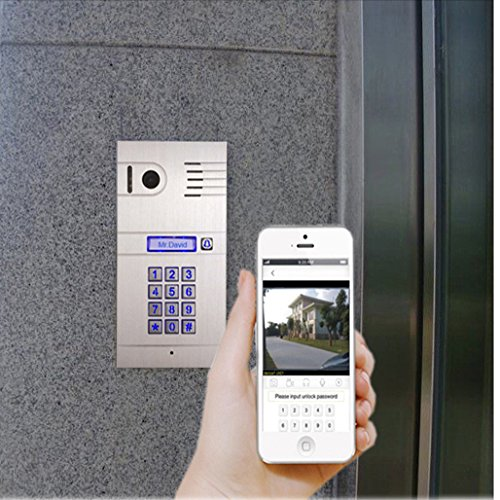 GBF New Upgraded -Global Wireless Video Doorphone & Doorbell WI-FI Intercom System Night Vision Weatherproof
