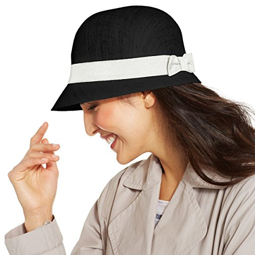 Ralph Lauren Lauren Women's Linen and Ribbon Bow Cloche Hat, (Ralph Lauren Designer Hat)