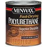 Minwax 63005444 Fast Drying Polyurethane Clear Finish, quart, Semi-Gloss
