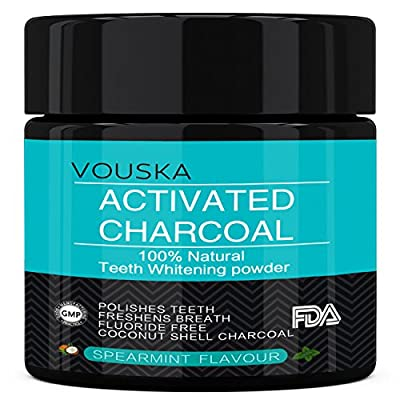 Teeth Whitening Charcoal Toothpaste Powder | Activated Charcoal Teeth Whitening Made with Coconut Shells Natural and Food Grade Formula(GMP and FDA Approved) |Made in the USA