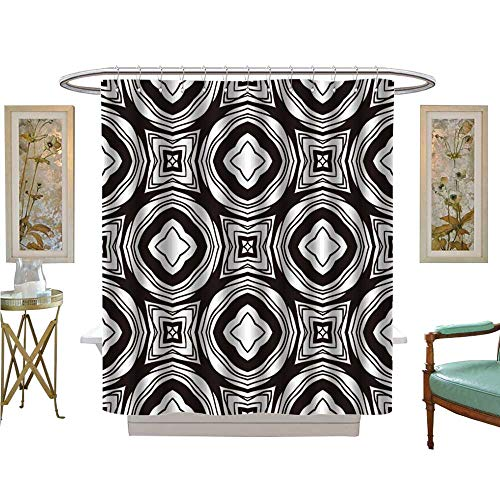 luvoluxhome Shower Curtain Collection by Vector Wallpaper Over Any Background Satin Fabric Sets Bathroom W72 x ()