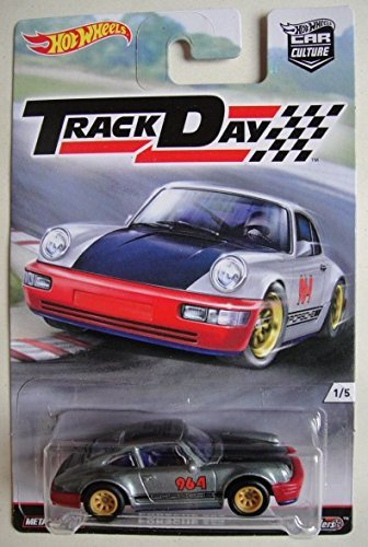 HOT WHEELS CAR CULTURE TRACK DAY GRAY PORSCHE 964 1 OF 5 ...