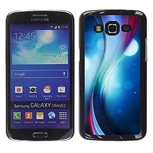 LECELL--Funda protectora / Cubierta / Piel For Samsung Galaxy Grand 2 -- Remolino del color --