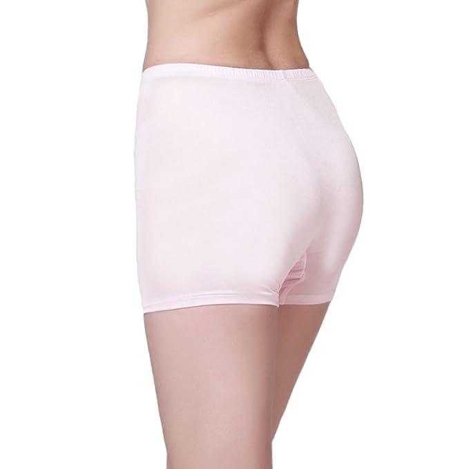 ForeverSilk de Las Mujeres 100% Seda Pura de Punto Caliente Pantalones Cortos para Hombre Rosa