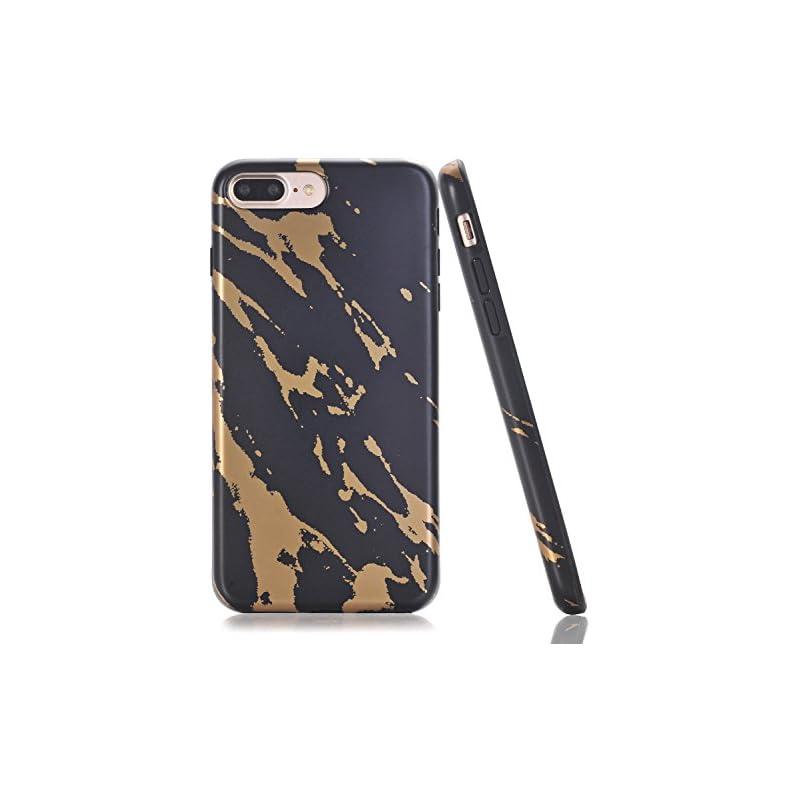 BAISRKE Shiny Gold Black Marble Design B