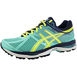 ASICS Women's Gel-cumulus 17 Running Shoe, Aqua Mint/Flash Yellow/Navy, 8 2A US