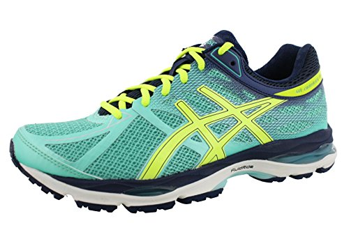 ASICS Women's Gel-cumulus 17 Running Shoe, Aqua Mint/Flash Yellow/Navy, 6 2A US