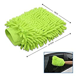Wash Mitt Microfiber Glove Chenille Sponge and Polishing Pad Duplex Soft Mitt