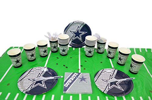 Dallas Cowboys Candle - Duck House Official National Football Fan Shop Authentic NFL Tailgate Party Kit Bundle for 20 Fans - Table Setting and More (Dallas Cowboys)