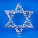 36'' Lighted Star of David Hanging Hanukkah Yard Art Decoration