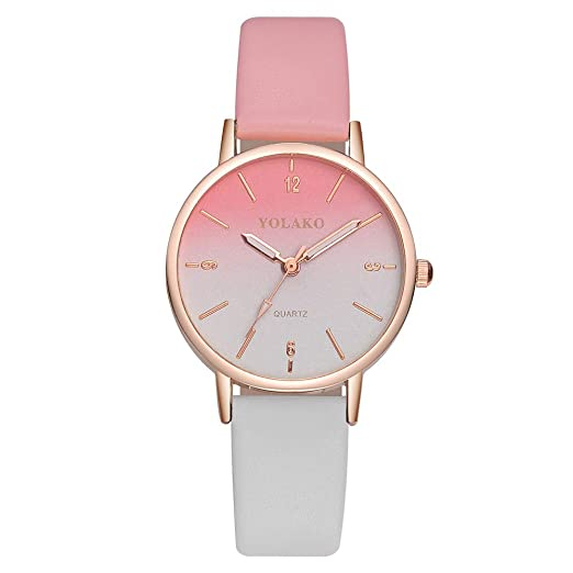 Loolik Casual Relojes Mujer,Casual Reloj de Escala Digital Degradado clásico (B): Amazon.es: Relojes