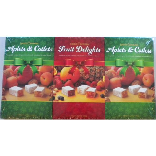 Liberty Orchard Fruit Delights (Aplets & Cotlets/Fruit Delights - Pack of 3)
