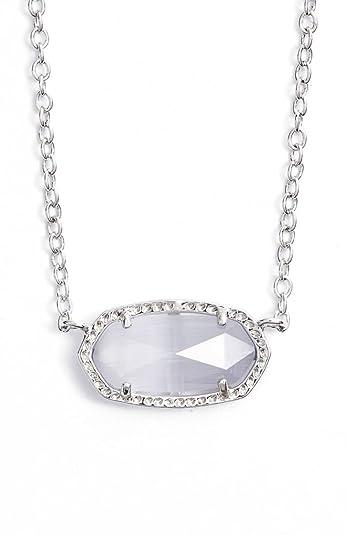 Kendra Scott Elisa Pendant Necklace in Slate Slate 0F4LLs