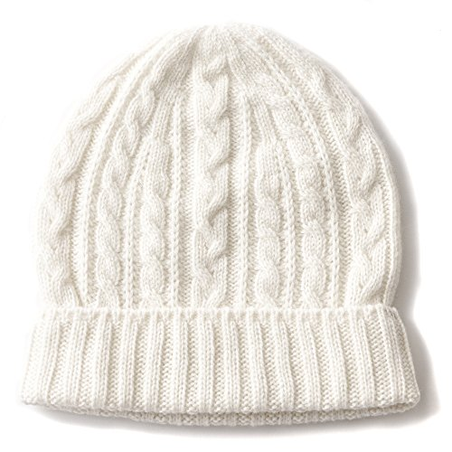 CHARM Casualbox | Kids | 100% Cashmere Beanie Hat for Boys & Girls | Super Soft and Light Weight Premium Headwear Ivory
