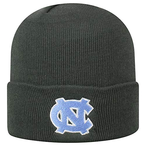 Top of the World North Carolina Tar Heels Men's Winter Knit Hat Icon, Charcoal, One Fit