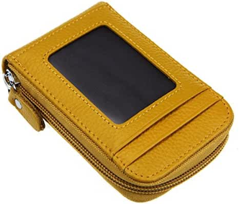 RFID Blocking Genuine Leather Credit Card Organizer Case,HNHC Wizard Travel Wallet