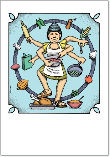 - 0030 'Goddess' - Funny Mother's Day Greeting Card with 5