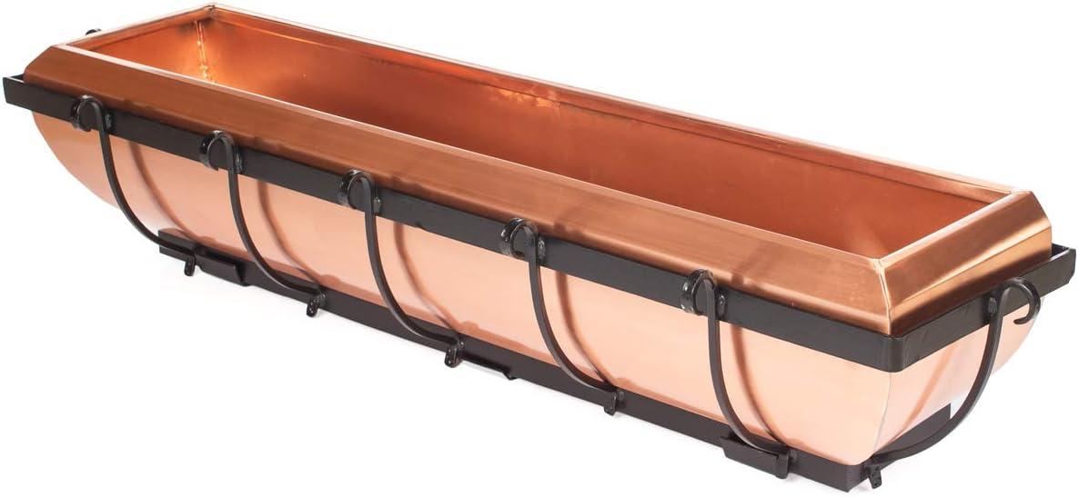 H Potter Copper Window Box Hanging Flower Deck Planter 30 Inch Model Gar134