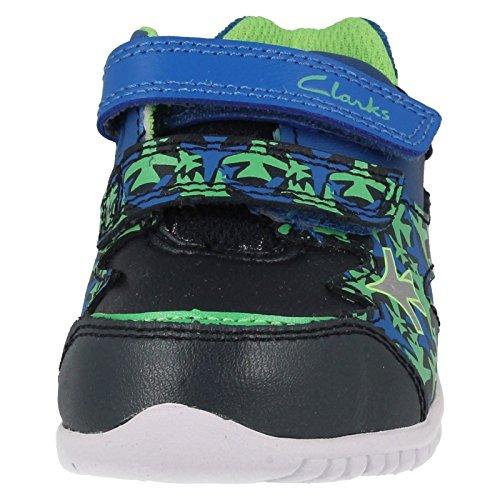 Clarks  Azon Zoom Fst,  Jungen Durchgängies Plateau Sandalen mit Keilabsatz Blau
