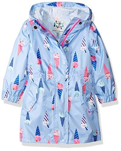 - Joules Girls' Little Golightly Packaway Parka, Sky Blue Ice Cream, 3
