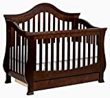 Cherry Wood Crib with Changing Table Million Dollar Baby Classic Ashbury 4-in-1 Convertible Crib with Toddler Bed Conversion Kit, Espresso