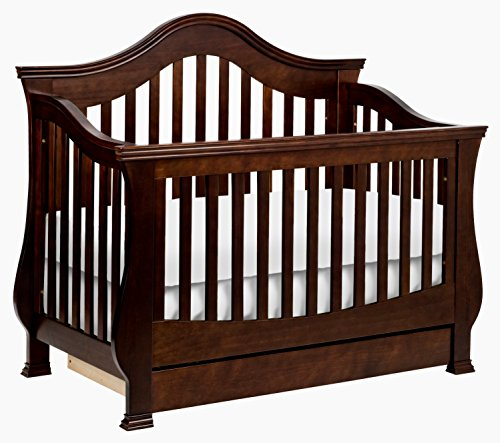 Million Dollar Baby Classic Ashbury 4-in-1 Convertible Crib with Toddler Bed Conversion Kit, Espresso