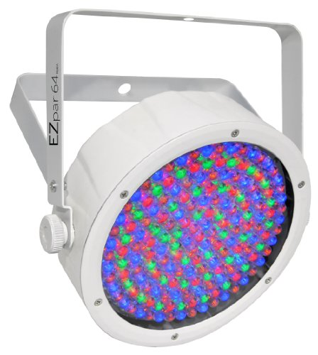 CHAUVET DJ EZpar 64 RGBA Battery-Powered LED Wash Light - White | LED Lighting ()
