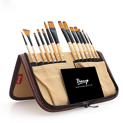 surblue-paint-brush-set-14-pcs-for-watercolor-acrylic-gouache-oil-and-face-painting-with-free-organi