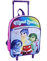 Disney Girls Inside Out 12 Inch Rolling Backpack - Licensed Product