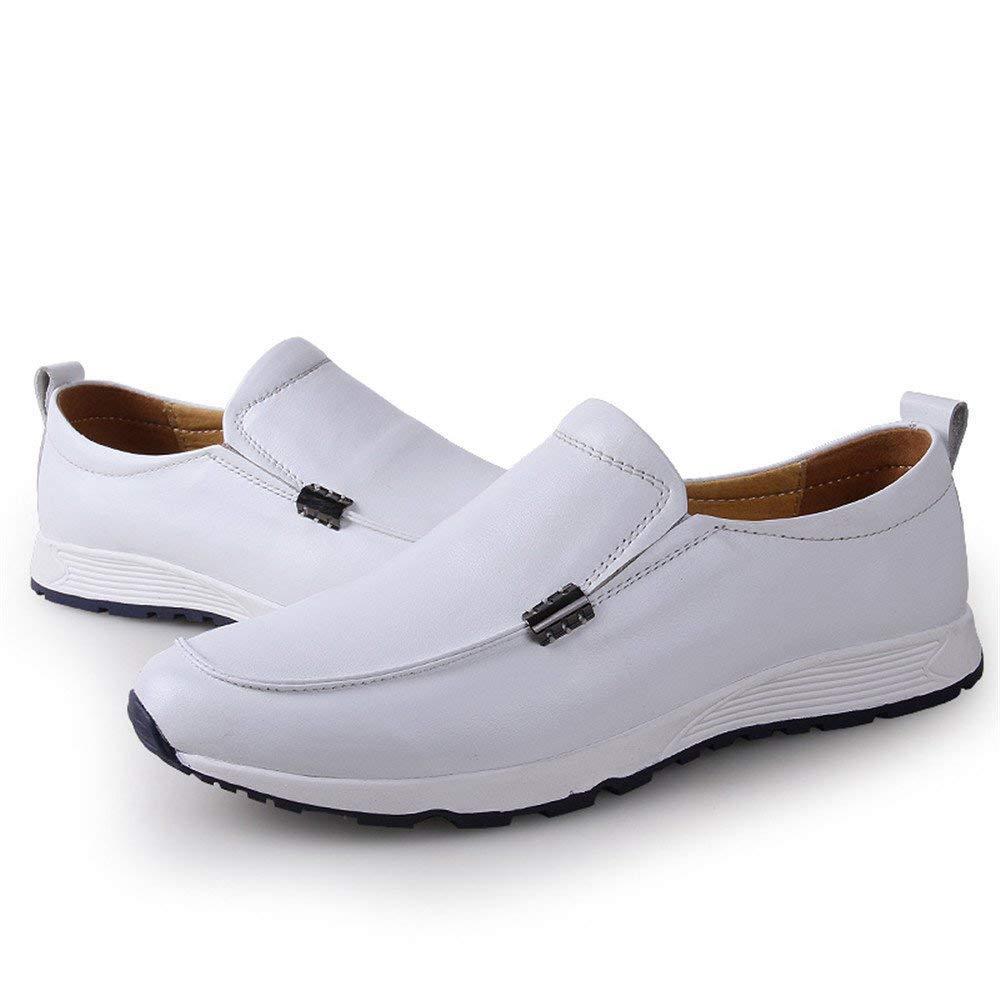 Herren Mokassins Schuhe, Schuhe, Schuhe, Männer Fahren Penny Loafers Bare Vamp Slip-on Casual Stiefel Mokassins Weiche Gummisohle Leder Ausgekleidet Schuhe (Farbe   Braun, Größe   41 EU) ( Farbe   Weiß , Größe   38 EU ) e8fd2e