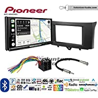 Volunteer Audio Pioneer AVIC-W8400NEX Double Din Radio Install Kit with Navigation, Apple CarPlay and Android Auto Fits 2011-2014 Smart Fortwo