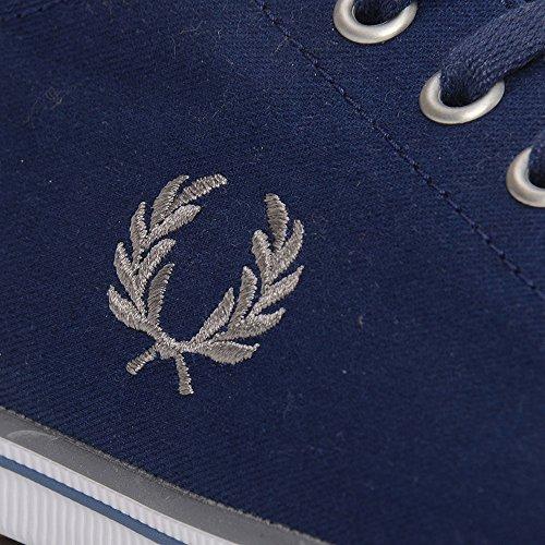 Marine White Kingston Bleu Leather Fred Perry qYp1xg