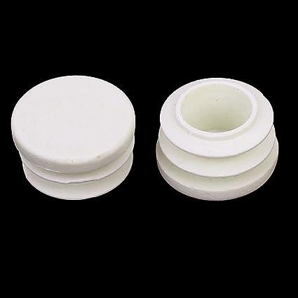 Di/ámetro 32 mm Negro Set de 50 Piezas Brinox B75485N Contera interior redonda