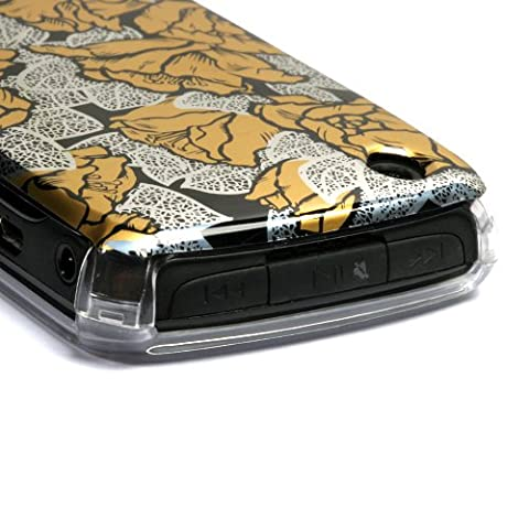 MyBat Blackberry 8520 Curve Reflex Phone Protector Cover - Retail Packaging - Thriving Roses (Blackberry 8520 Curve Cover)