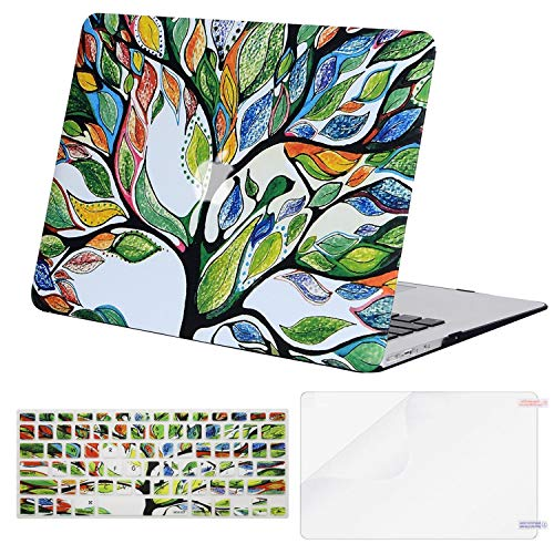 MOSISO MacBook Air 13 inch Case (A1369 & A1466, Older Version 2010-2017 Release), Plastic Pattern Hard Case&Keyboard Cover&Screen Protector Only Compatible with MacBook Air 13, Love Tree