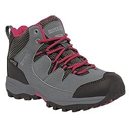 Regatta Great Outdoors Childrens/Kids Holcombe Mid Cut Waterproof Walking Boots (3 US) (Enamel/Briar)