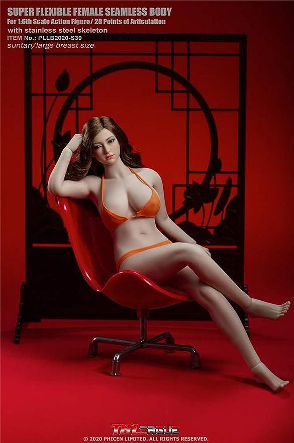 Stock 1//6 TBLeague PLLB2020-S38//S39 Seamless Large Breast Pale//Suntan Body