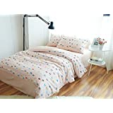 FADFAY Home Textile,Cute Rabbit Kids Bedding Set Cartoon Kids Boys And Girls Duvet Cover Polka Dot Quilt Cover Twin Full Kids Bedcover